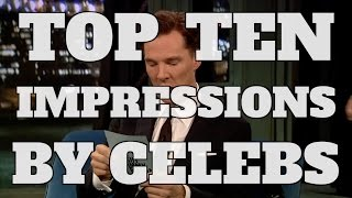 Top 10 Hilarious Impressions Done by Celebrities (Quickie)