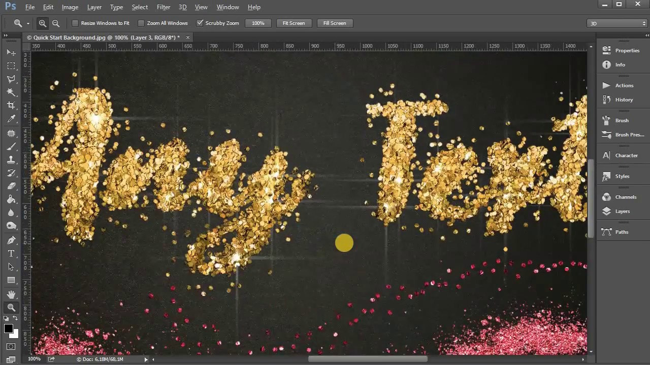 Make metal texture in photoshop, video tutorial | psdgraphics.