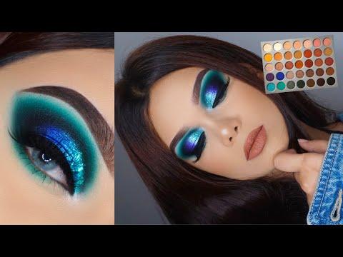 MORPHE X Jaclyn Hill Palette Tutorial   Ocean Blue Turquoise Smokey Eye thumbnail