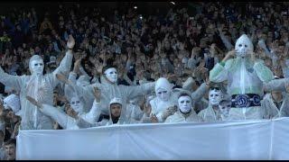 Белая шиза фанатов Динамо в матче против Шахтера
