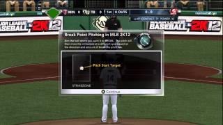 Mlb 2k12 Online Pitching tutorial - The Basics