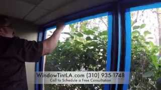 Los Angeles Security Window Film Attachment System Dow Corning 995 Installation