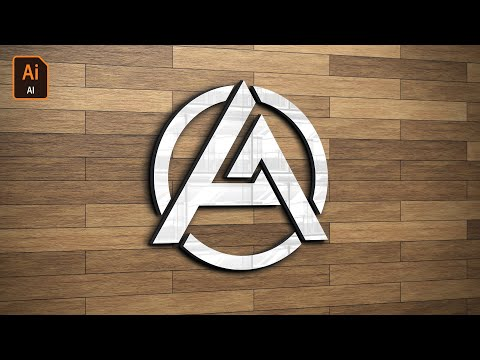 Letter Logo Design Tutorial in Adobe illustrator /  Text Logo/ A letter logo thumbnail