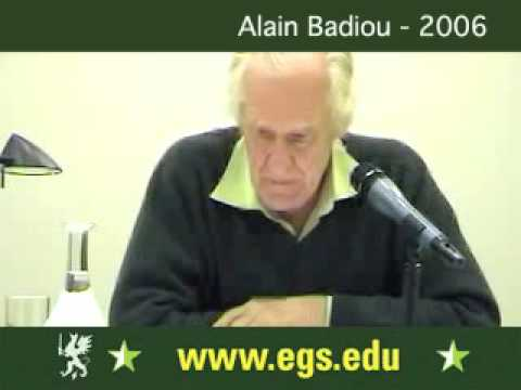 Alain Badiou. Democracy, Politics and Philosophy 2006 3/5