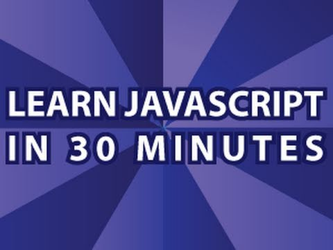 JavaScript Video Tutorial Pt 1