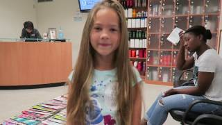 SAVANNAH'S FIRST HAIR CUT AND WIGS FOR KIDS DONATION | DONATING HAIR | LONG HAIR DONATION
