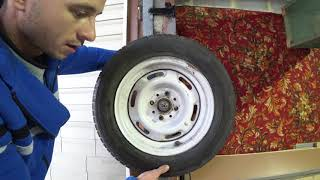 Do-it-yourself balancing wheels on a self-made balancing machine! Wheel balancing