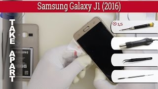 How to disassemble 📱 Samsung Galaxy J1 (2016) SM-J120 Take apart Tutorial