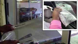 Removing window film fŗom flat glass
