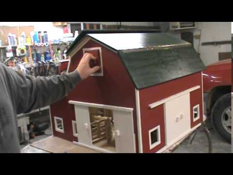 HIP ROOF TOY BARN. By Kauffman's Wood Kreations - YouTube
