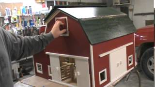 Hip Roof Toy Barn.  By Kauffman's Wood Kreations