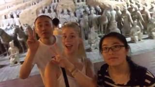 A blonde volunteer in China