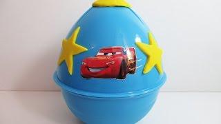Тачки 2 Огромное яйцо с сюрпризом открываем игрушки Giant Surprise Egg Disney Pixar Cars