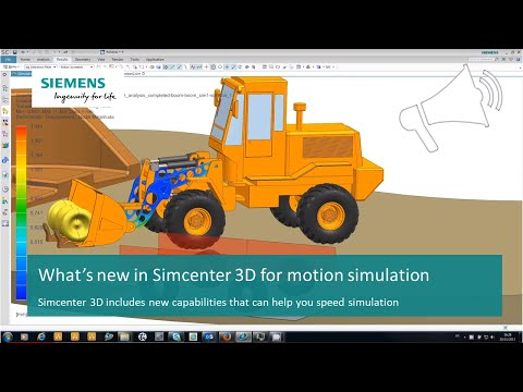 What's New in Simcenter 3D for Motion Simulation