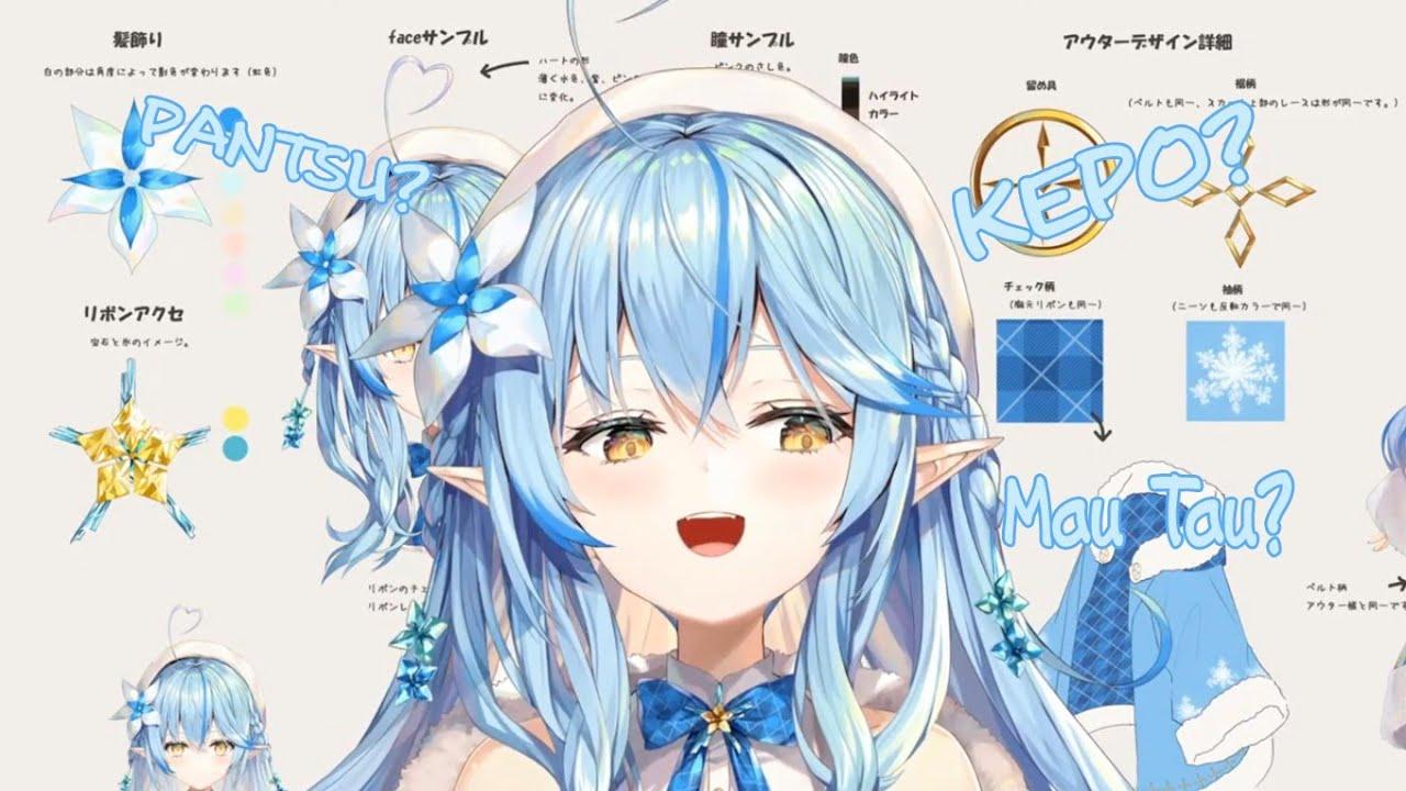 【Vtuber Sub Indo】Yukihana Lamy, Sang Elf Dari Klan Salju - Character Design