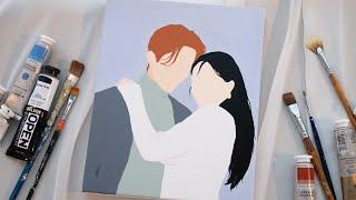 예쁘고 깔끔한 커플 팝아트 초상화 그리기 ❤️ ⎜ …