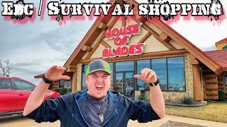 EDC & Survival Shopping at House of Blades
