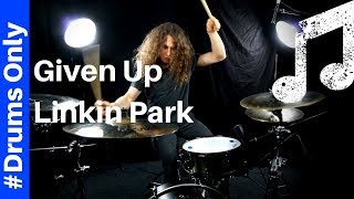 Given Up - Linkin Park -Drums Only Version (Playtrough with sheet music on screen)