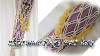 yoga mat bag made of macrame /…