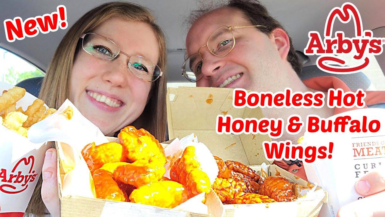 Arbys® New Buffalo & Hot Honey Boneless Wings Review!
