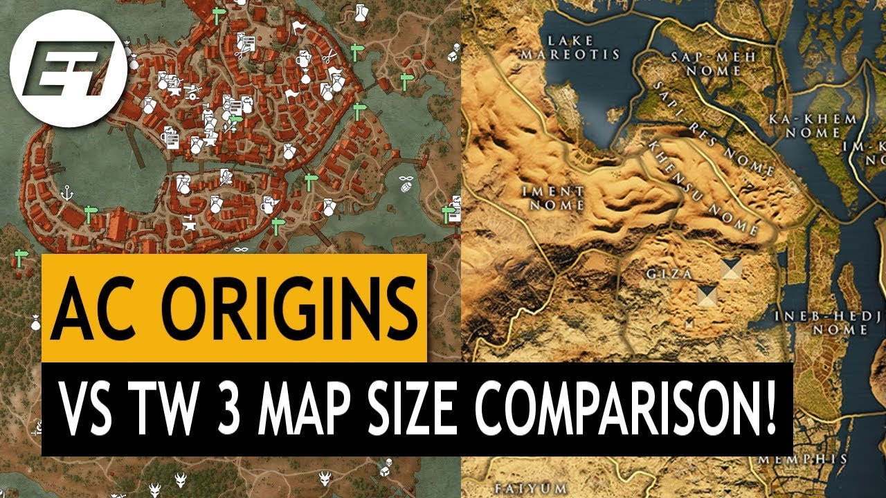 assassins creed origins map size comparison