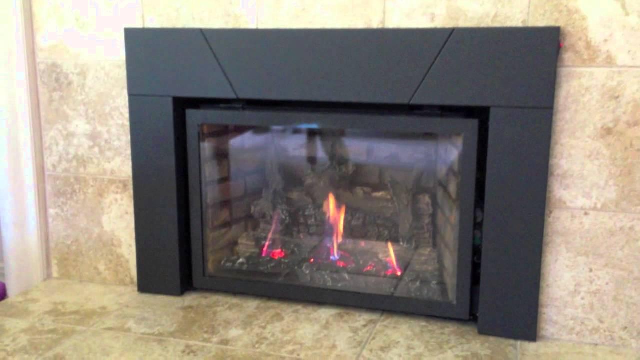 Napoleon Ir3n Xir3n Gas Fireplace Insert Burn Video Product Review Youtube