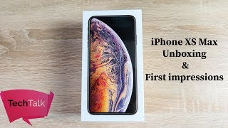 iPhone XS Max Unboxing & Setup Gold 64GB