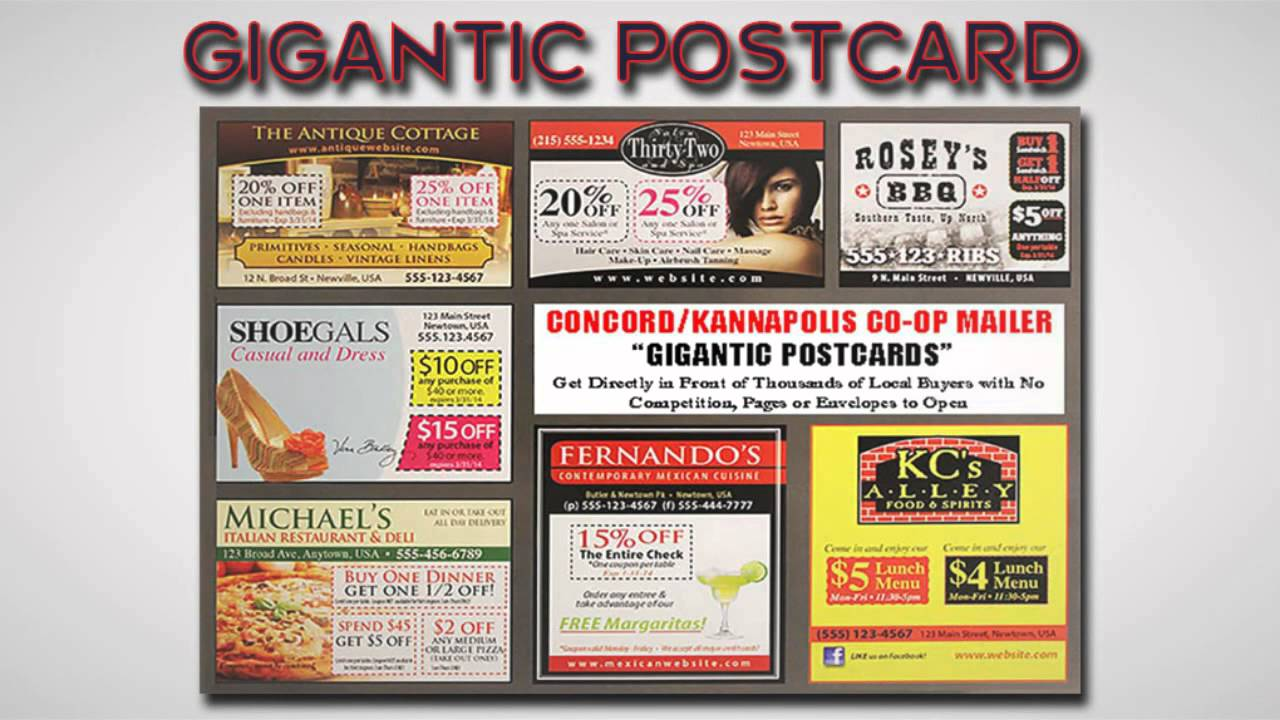post card advertising