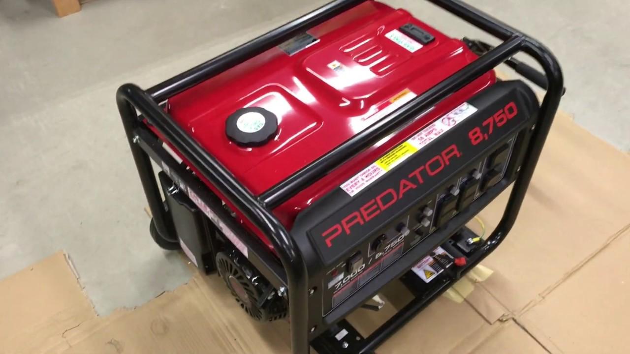 (REVIEW) 8750 predator harbor freight generator Item#63087