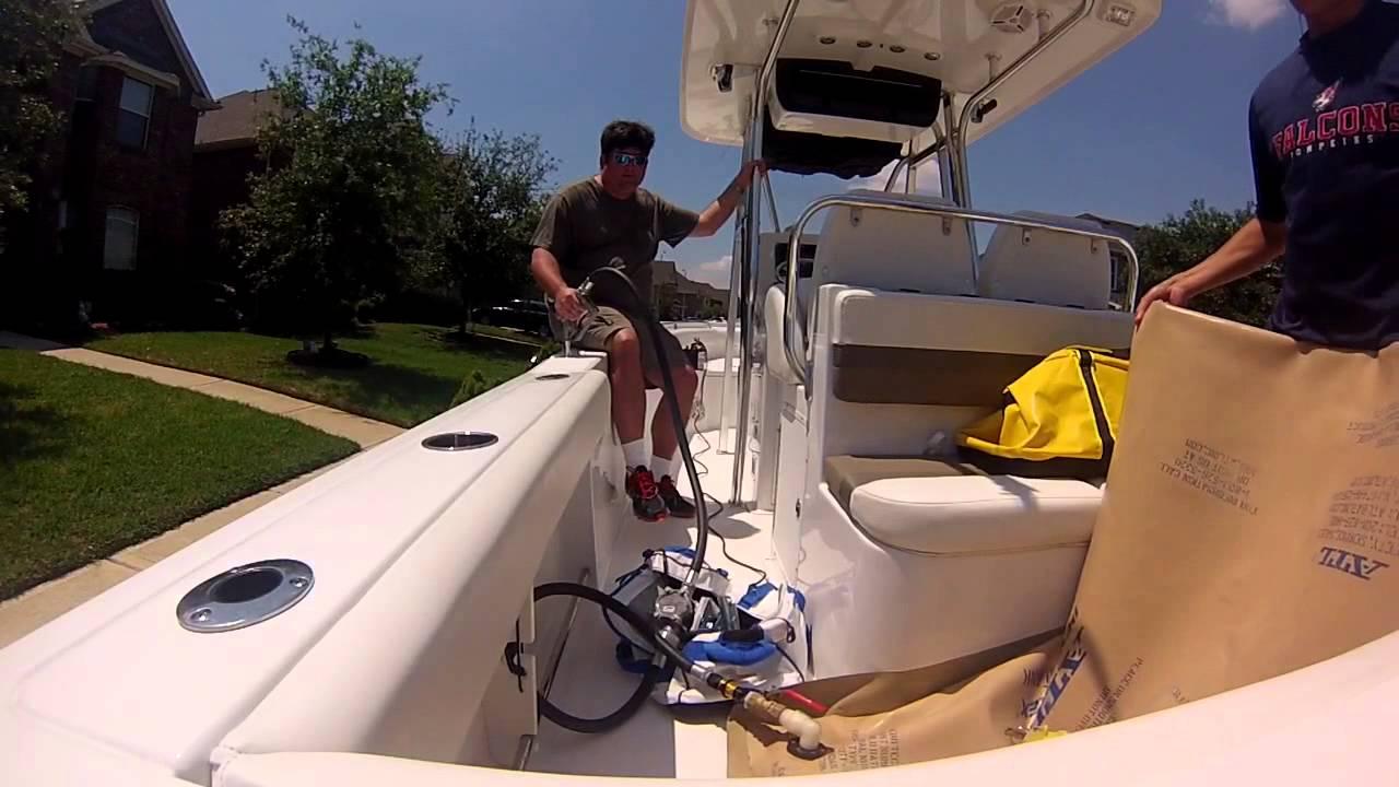V Marine Fuels Boat fuel transfer - Y...