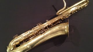 Conn Bass Saxophone Restoration