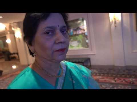Aruna & Hari Sharma from Omni Shoreham Washington DC Lobby to West Promenade, Nov 14, 2017