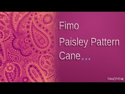 Fimo Techniken: Paisley Pattern - Anleitung [HD/deutsch]