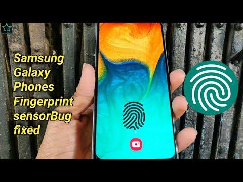 Samsung Galaxy Phones fingerprint sensor not working bug fixed | A30, M30