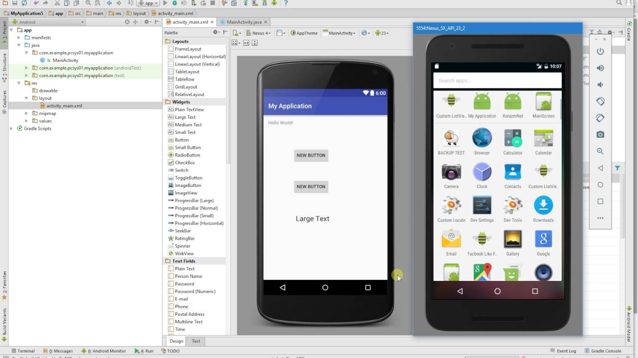 button click event with switch and case in android studio