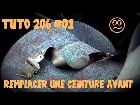 Tutoriel 206 #01 Remplacement Ceinture Avant