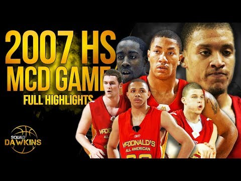 D-Rose, Harden, B.Griffin, Eric Gordon, Love, Beasley in 2007 HS All Star Game | SQUADawkins
