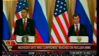 "Obama and Medvedev ""Reset"" U.S.-Russian Relations - Bloomberg"