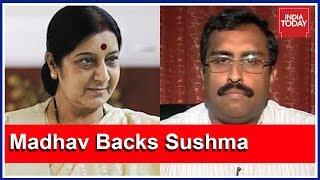 Gambar cover Days After Trolling, Ram Madhav Questions Hate Rant Against Sushma Swaraj