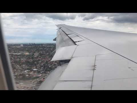 Landing MIA American Airlines AA 113