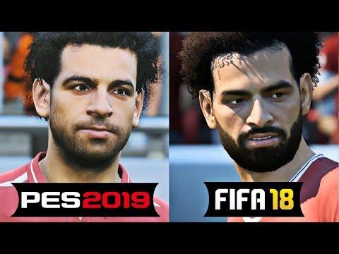PES 2019 Vs FIFA 19 / 18 Liverpool Faces FT. SALAH , ROBERTO FIRMINO , MANE