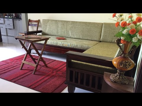 L shaped sofa set wooden (new design) - Rightwood