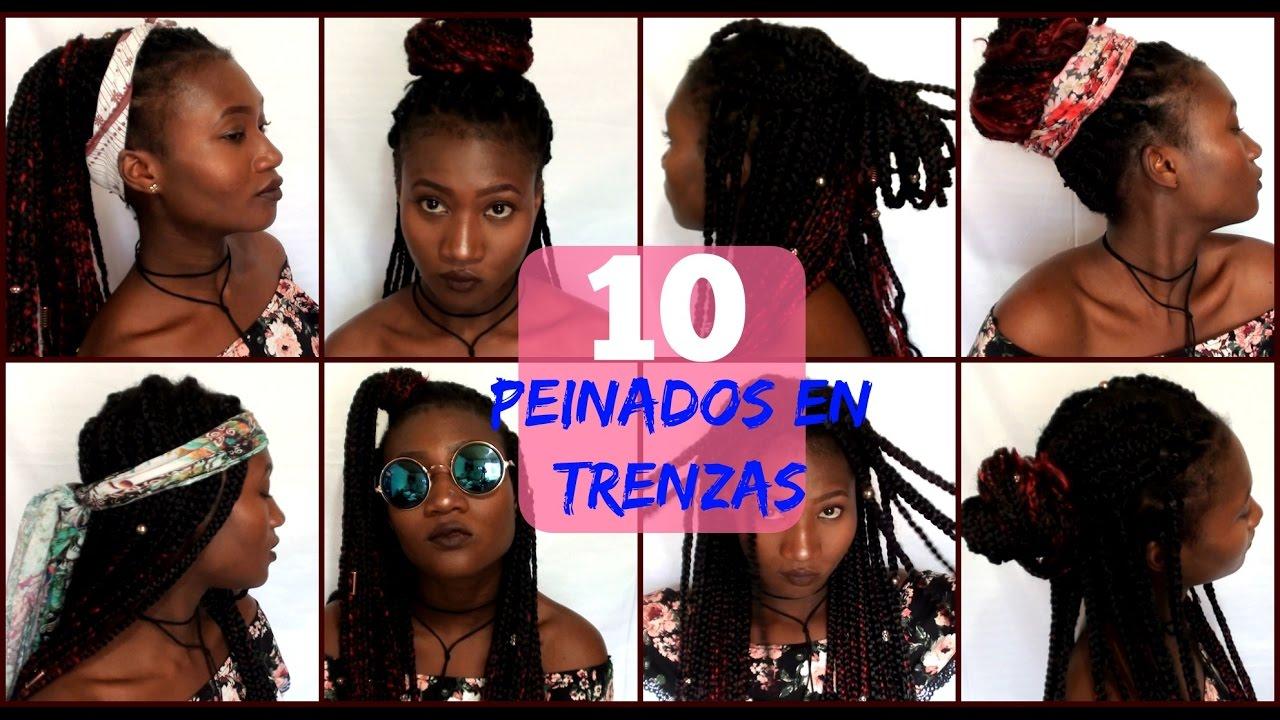 10 Peinados Fáciles Para Trenzas Africanas Yudis