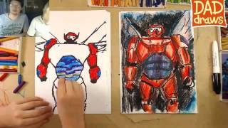 How to draw Big Red Robot City of Heroes