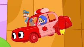 Oh No It's The Vehicle BANDITS! | My Red Police Car | Kids Cartoon | Mila and Morphle
