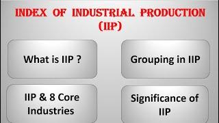 Index of Industrial Production UPSC (IIP) | Economics