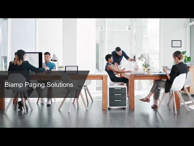 Webinar: Biamp Paging Overview