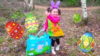 Easter Hunt with Giant Easter Eggs surprises and Maxi Kinder Surprise