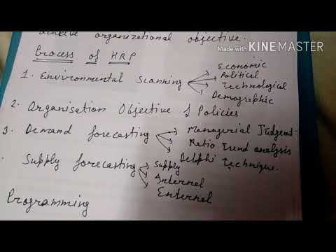 Human resource planning:- introduction, meaning, process in hindi