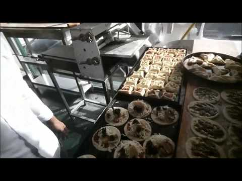 Process in making Manakish Cheese  Zaatar Spinach Bread Pizza